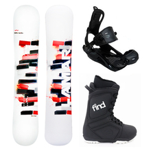 Lamar Bronze Snowboard Package Fullcap Mission Flat Rocker 163cm Wide With Bindings and Boots