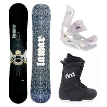 Lamar Bronze Snowboard Package Fullcap Legacy FS Camber 159cm Wide With Bindings and Boots