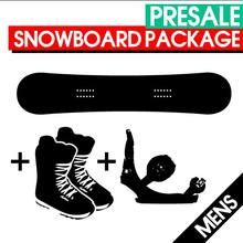PRESALE Men's Snowboard Package with Bindings & Boots
