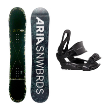 Aria Snowboard Fullcap Drop Out Flatrock 151cm Package with Bindings