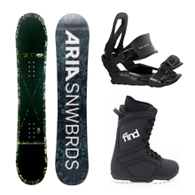 Aria Snowboard Fullcap Drop Out Flatrock 151cm Package with Bindings & Boots