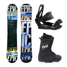 Epic Snowboard Fullcap I-Class Camber 151cm Package with Bindings & Boots