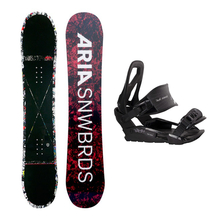 Aria Snowboard Fullcap Dropout Black Camber 147cm Package with Bindings