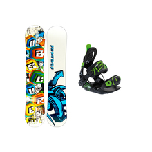 Obscure Block 130cm Camber Snowboard with SP Fastec Junior Binding
