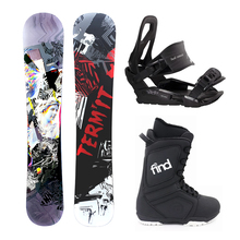 Termit Illusion 163cm Wide Rocker Snowboard Package with Bindings & Boots