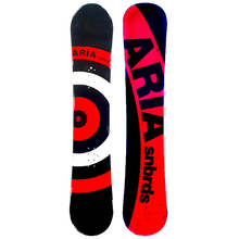 Aria Target Stick Red 154cm Wide Camber Snowboard