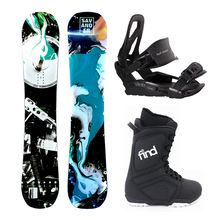 Lowl 2Nd Face 143cm Hybrid Camber Snowboard Package with Bindings & Boots