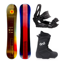 Wr Btm Projects 132cm Flat Rocker Snowboard Package with Bindings & Boots