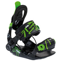 SP Fastec Junior Snowboard Binding Black/Green XS