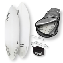 "FORCE Blitz Polytec 5'10"" Surfboard + Cover + Leash Package"