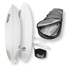 "FORCE Blitz Polytec 6'0"" Surfboard + Cover + Leash Package"
