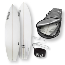 "FORCE Speedsta Polytec 6'4"" Surfboard + Cover + Leash Package"