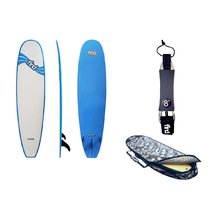 "FIND™ 7'6"" Mini Mal Epoxy Duralite Surfboard  + Cover + Leash Package"