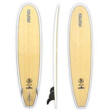 "FORCE 7'6"" Ecoflex Epoxy Bamboo Minimal Surfboard"
