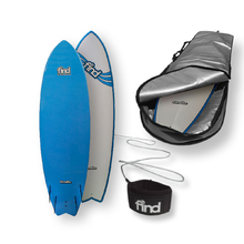 "FIND™ 6'6"" Quadfish Duralite Surfboard + Cover + Leash Package"