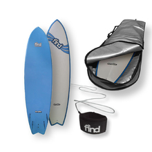 "FIND™ 7'0"" Quadfish Duralite Surfboard + Cover + Leash Package"