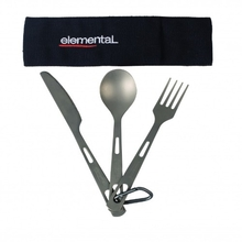 Elemental Titanium 3 Piece Cutlery Set