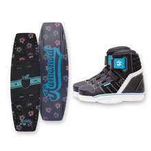 Humanoid Huxtable 126cm Wakeboard - Black + Humanoid Boots Package