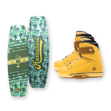 Humanoid Huxtable 142cm Wakeboard - Green + Humanoid Boots Package