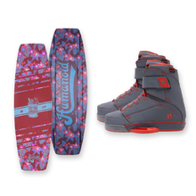 Humanoid Huxtable 132cm Wakeboard - Red + Humanoid Boots Package