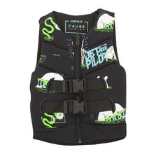 JetPilot The Cause F/E Kids Neo PFD Vest - Black/Green