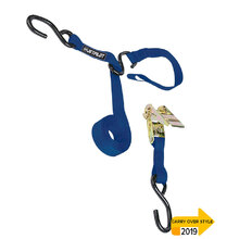 JetPilot Triple Hook Ratchet Tie Down - Blue