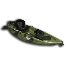 MELBOURNE FIND™ Stealth 2.7 Fishing Kayak Green Camo Single 5 Rod Holders Paddle Leash Deluxe Seat Paddle