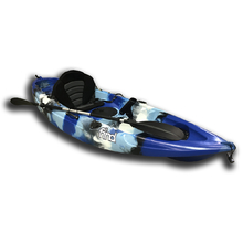 MELBOURNE FIND™ Stealth 2.7 Fishing Kayak Sky Blue Camo Single 5 Rod Holders Paddle Leash Deluxe Seat Paddle