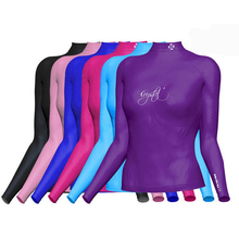 Crystal Ladies Lycra Rash Long Sleeve Shirt