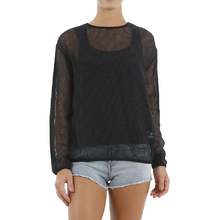 JetPilot Kick On Layer Ladies Top - Black