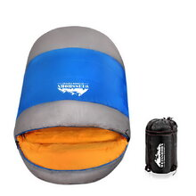 Extra Large Sleeping Bag - Blue & Grey