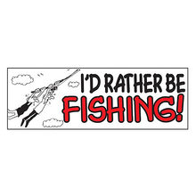 AFN I'd Rather Be Fishing Sticker
