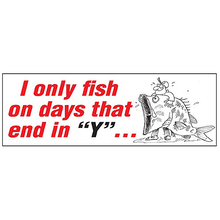 "AFN I Only Fish on The Days That end in ""Y"" Sticker"
