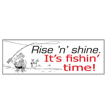 AFN Rise 'n' Shine. It's Fishin' Time! Fun Sticker