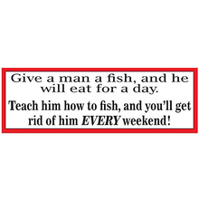 AFN Give A Man A Fish, And He Will Eat For A Day Fun Sticker