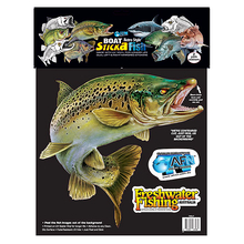 AFN Retro Large Trout Dual Sticker