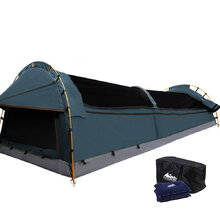 Double Size Canvas Tent- Navy