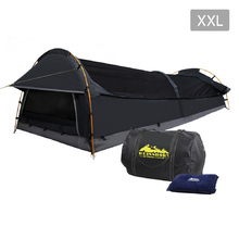 XXL Deluxe King Single Swag Camping Swag Grey