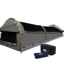 King Single Size Canvas Tent - Grey