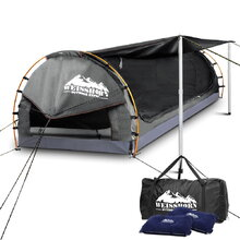 Double Size Dome Canvas Tent - Grey