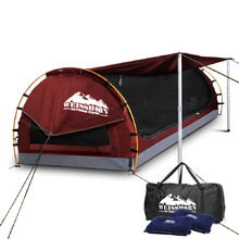 Double Size Dome Canvas Tent - Red