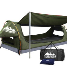 King Single Size Dome Canvas Tent - Celadon