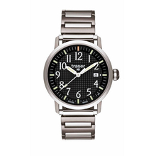 Traser Classic Basic Black with Elastic Steel Watch - L-M