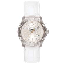 Traser H3 LadyLine Ladytime Silver with Silicone White Band Watch