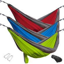 Hillcrest Ripstop Hammock with Iron Carabiners & Extra Rope