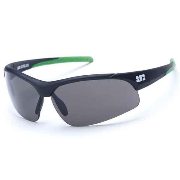JB Patrol Eyewear - Matte Black w' Green Tips - Smoke, Clear & Amber Lenses