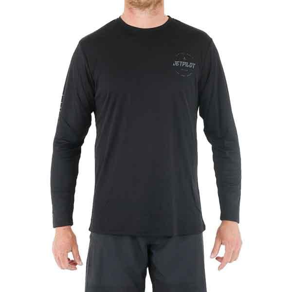 JetPilot Corp Long Sleeve Mens Hydro Tee - Black - Small
