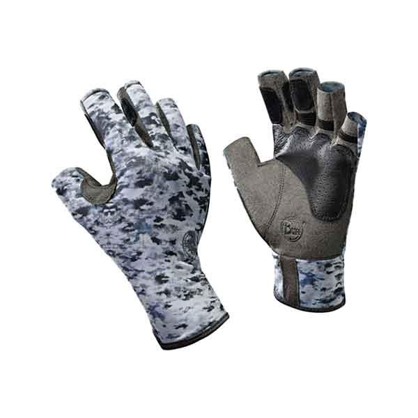Buff Gloves Angler Fish Camo Size S/M