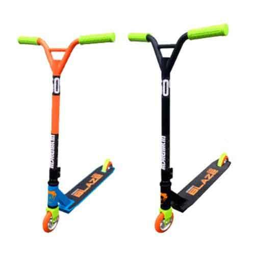 Adrenalin Black or Blue/Orange Blaze 100 Pro Stunt Push Scooter