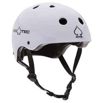 Protec Classic Certified Skate Helmet - Gloss White - Large